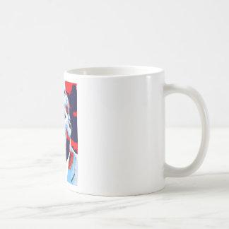 Pop Art JFK John F. Kennedy Red Blue Coffee Mug