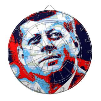 Pop Art JFK John F. Kennedy Red Blue Dart Boards