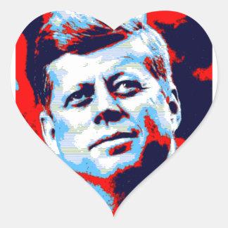 Pop Art JFK John F. Kennedy Red Blue Heart Sticker