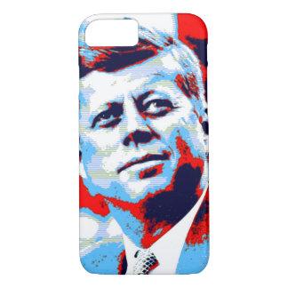 Pop Art JFK John F. Kennedy Red Blue iPhone 7 Case