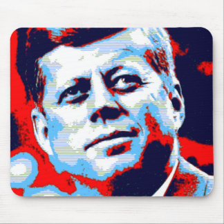 Pop Art JFK John F. Kennedy Red Blue Mouse Pad