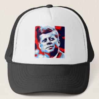 Pop Art JFK John F. Kennedy Red Blue Trucker Hat