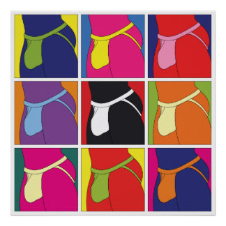 Pop Art Jockstrap Fantasy Poster