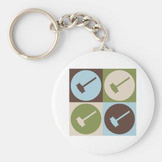 Pop Art Judging Basic Round Button Keychain