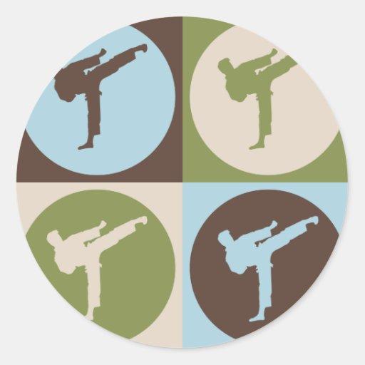 Pop Art Karate Classic Round Sticker