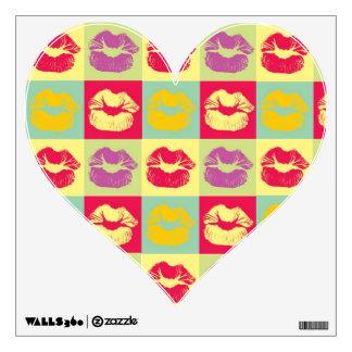 lips wall decals amp wall stickers zazzle pop art girl pat wall sticker by frankschuster