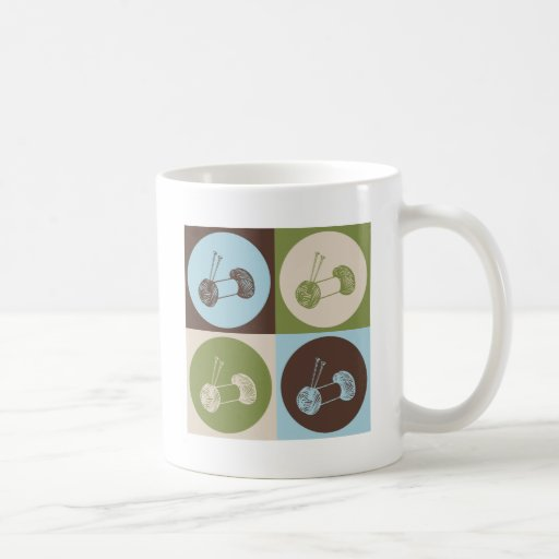 Pop Art Knitting Classic White Coffee Mug