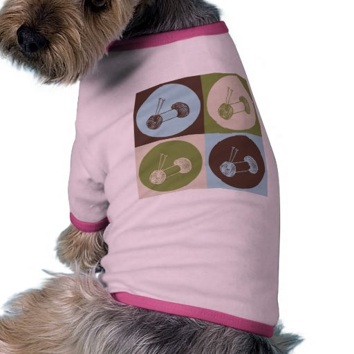 Pop Art Knitting Dog Tshirt