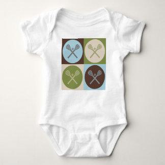Pop Art Lacrosse Baby Bodysuit