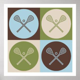 Pop Art Lacrosse Poster