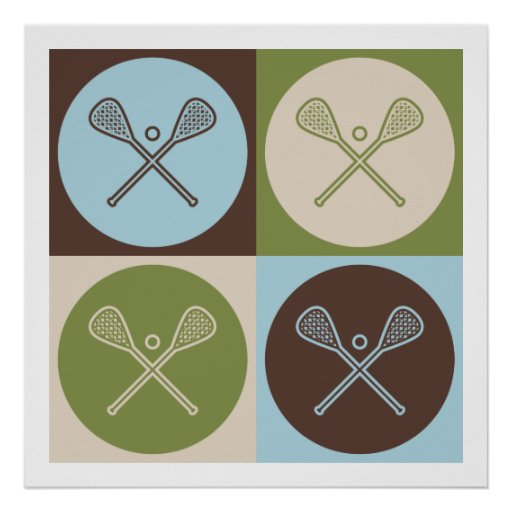 Pop Art Lacrosse Poster