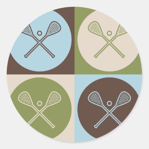 Pop Art Lacrosse Sticker