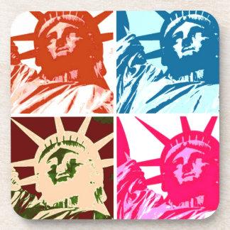 Pop Art Lady Liberty Coaster