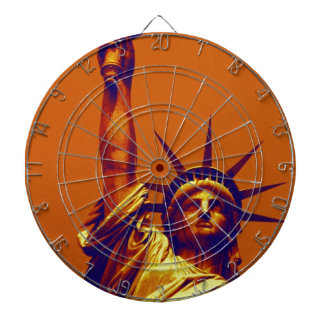 Pop Art Lady Liberty Dart Board