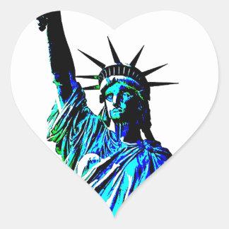 Pop Art Lady Liberty Heart Sticker
