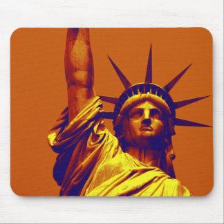 Pop Art Lady Liberty Mouse Pad