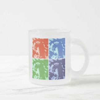 Pop Art Lady Liberty 10 Oz Frosted Glass Coffee Mug