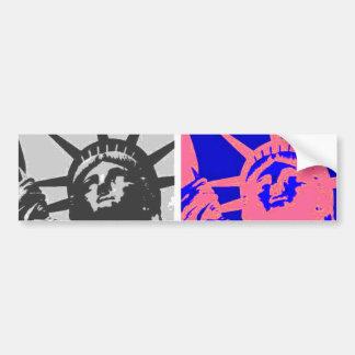Pop Art Lady Liberty New York City Car Bumper Sticker