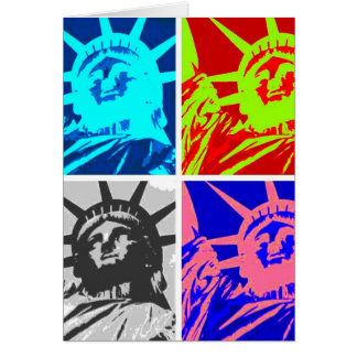 Pop Art Lady Liberty New York City Card