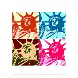 Pop Art Lady Liberty New York City Post Card