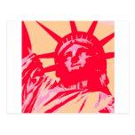 Pop Art Lady Liberty New York City Postcard