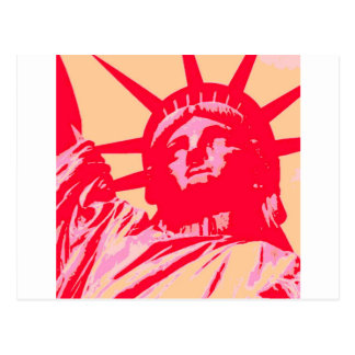 Pop Art Lady Liberty New York City Postcard
