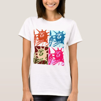 Pop Art Lady Liberty New York City T-Shirt