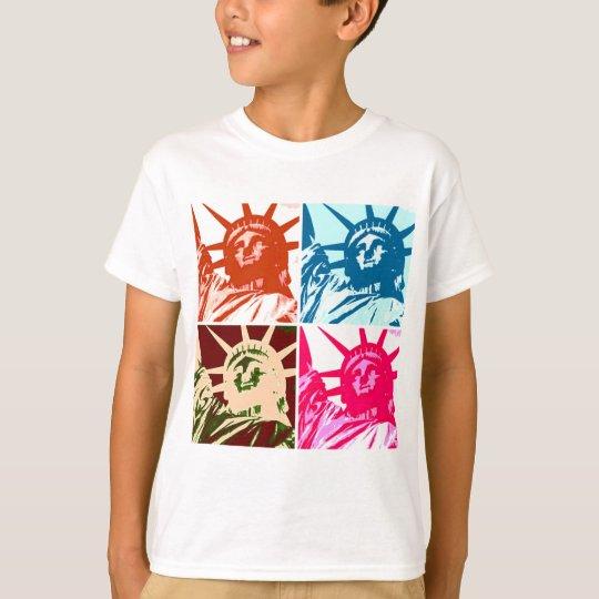 Pop Art Lady Liberty New York City T-Shirt