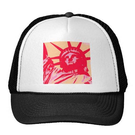 Pop Art Lady Liberty New York City Trucker Hat