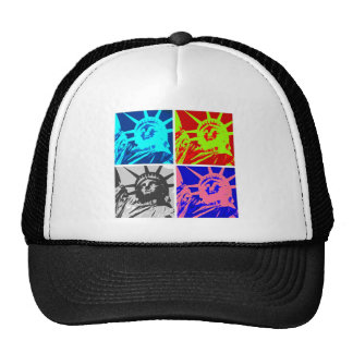 Pop Art Lady Liberty New York City Trucker Hat