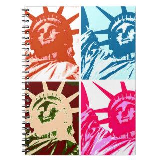 Pop Art Lady Liberty Notebook