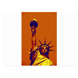 Pop Art Lady Liberty Postcard
