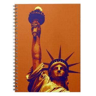 Pop Art Lady Liberty Spiral Notebook