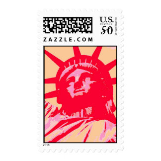 Pop Art Lady Liberty Stamp