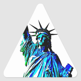 Pop Art Lady Liberty Triangle Sticker