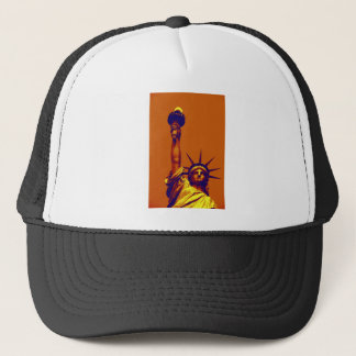 Pop Art Lady Liberty Trucker Hat
