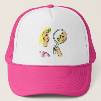 Pop Art Lady Trucker Hat