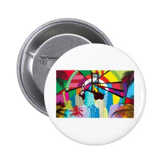 Pop Art Landmarks Pinback Button