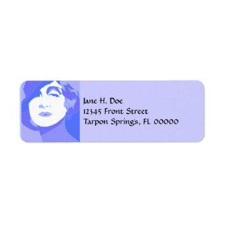 Pop Art Lavender Lady ~ femme fatale Address Label
