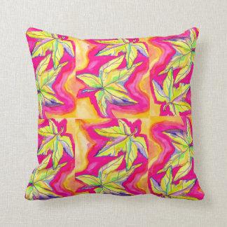 Pop Art Leaves Throw Pillow