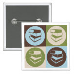 Pop Art Library Work 2 Inch Square Button