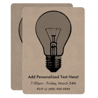 Pop Art Light Bulb Card