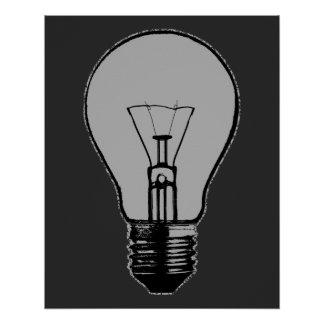 Pop Art Light Bulb Poster