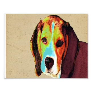 Pop Art Like Beagle Photo Print