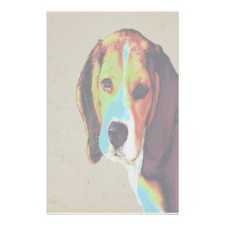 Pop Art Like Beagle Stationery Paper