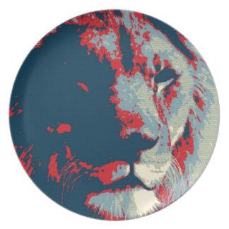 Pop Art Lion Dinner Plate