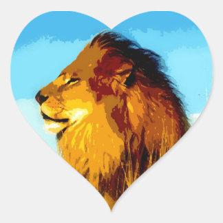 Pop Art Lion Heart Sticker