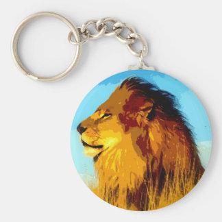 Pop Art Lion Keychain
