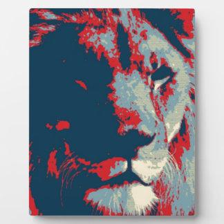 Pop Art Lion Plaque