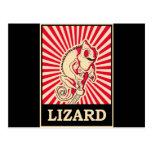 Pop Art Lizard Post Card